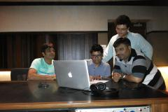 In Recording with Shaan