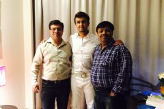 Jatin Limbad and Hitesh Limbad with Sonu Nigam....