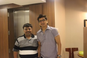 Jatin with Shaan